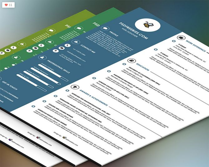 Best Free Resume Templates  Psd Ai Doc  Free Printable