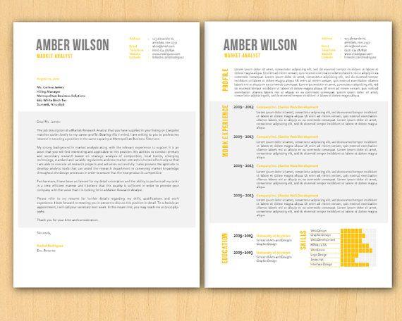 Yellow Capital Grey Shadow Block Microsoft Word Resume by Inkpower ...