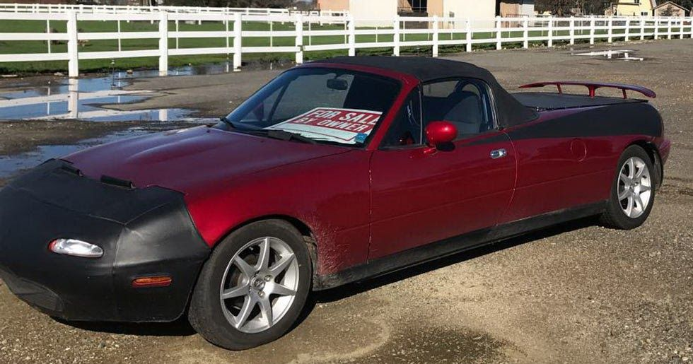 There S A Stretched Mazda Mx 5 Pickup Truck Conversion For Sale No Seriously Carscoops Mazda Mx5 Mazda Pickup Trucks