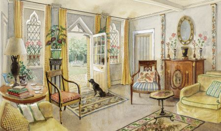 The Sitting Room Of John Fowler S Hunting Lodge In 1948