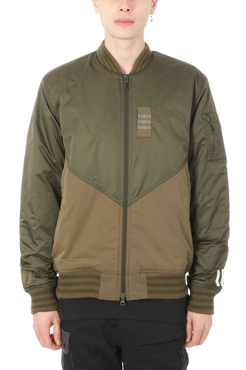 6d454a206a92 Best price on the market  adidas Originals x White Mountaineering adidas  Originals x White Mountaineering Green Technical Fabric Flight Jacket