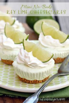 These tasty (and adorable) little key lime cheesecakes are a perfect St. Patrick's Day treat. Everyone loved them, especially my husband, who is a huge fan of cheesecake and key lime. I love that t...