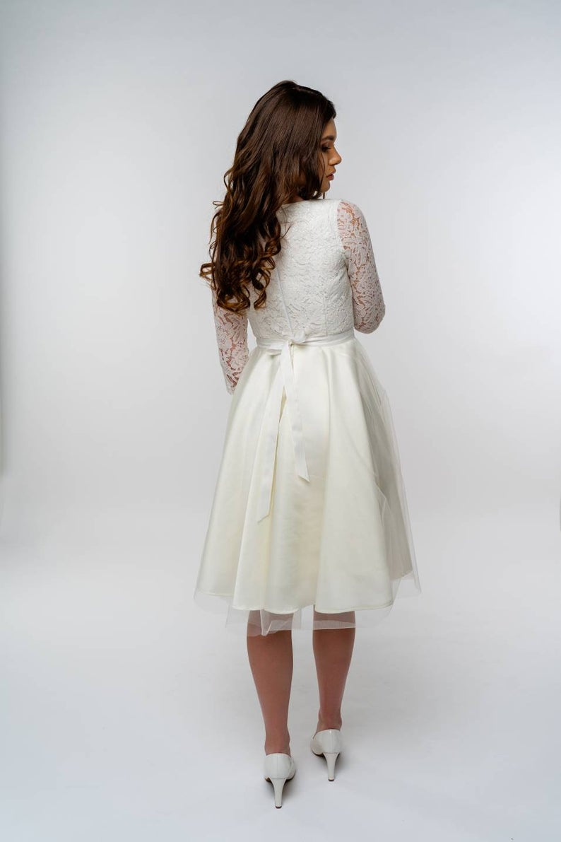 Ready To Ship Wedding Dress Short Wedding Dress Simple Etsy Simple Wedding Dress Short Etsy Wedding Dress Short Wedding Dress [ 1191 x 794 Pixel ]