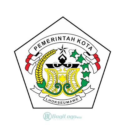 Kota Lhokseumawe Logo Vector Permukaan Laut