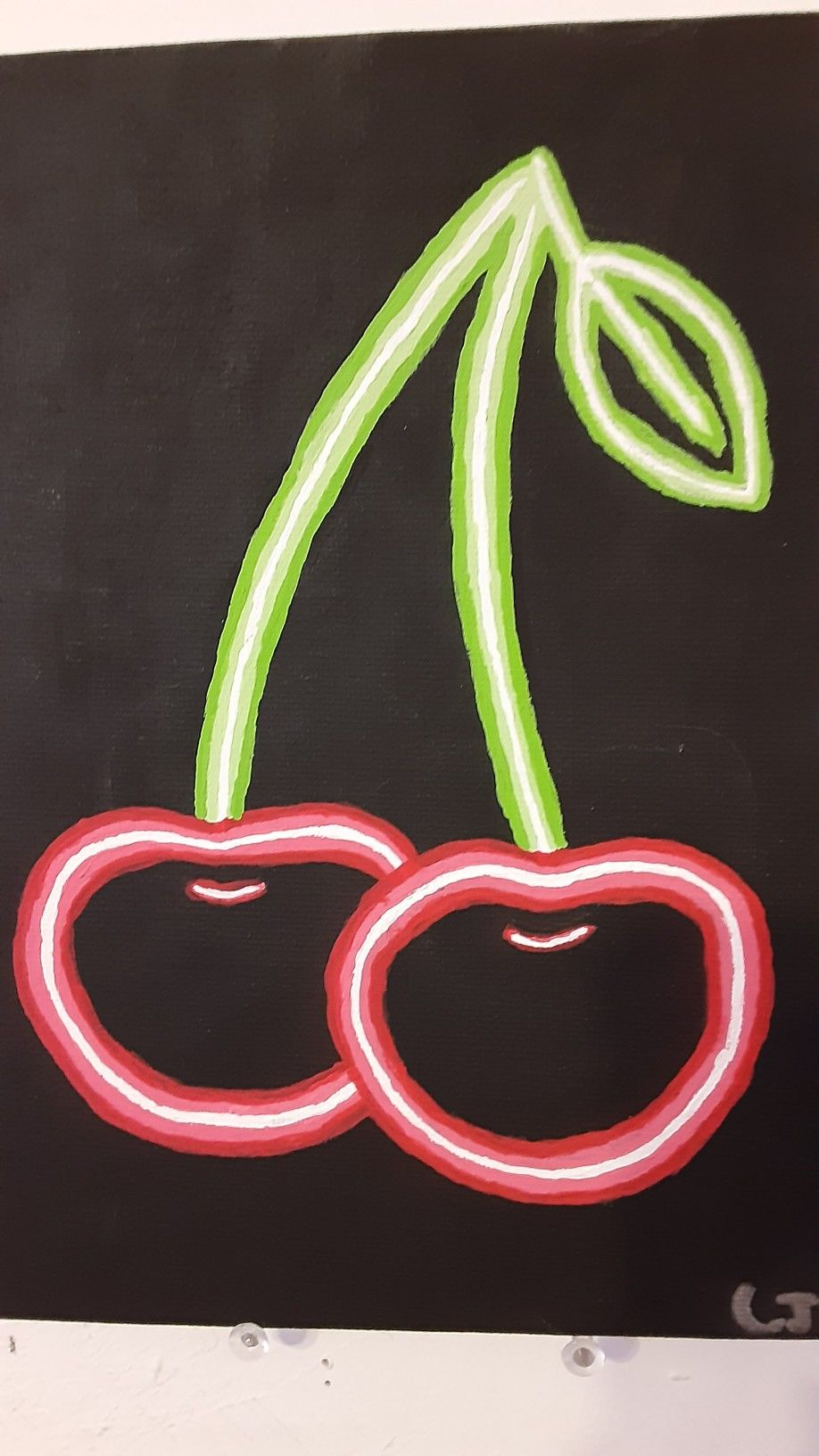 Cherry Neon Sign Painting Diy Canvas Art Painting Neon Art Painting Neon Sign Art