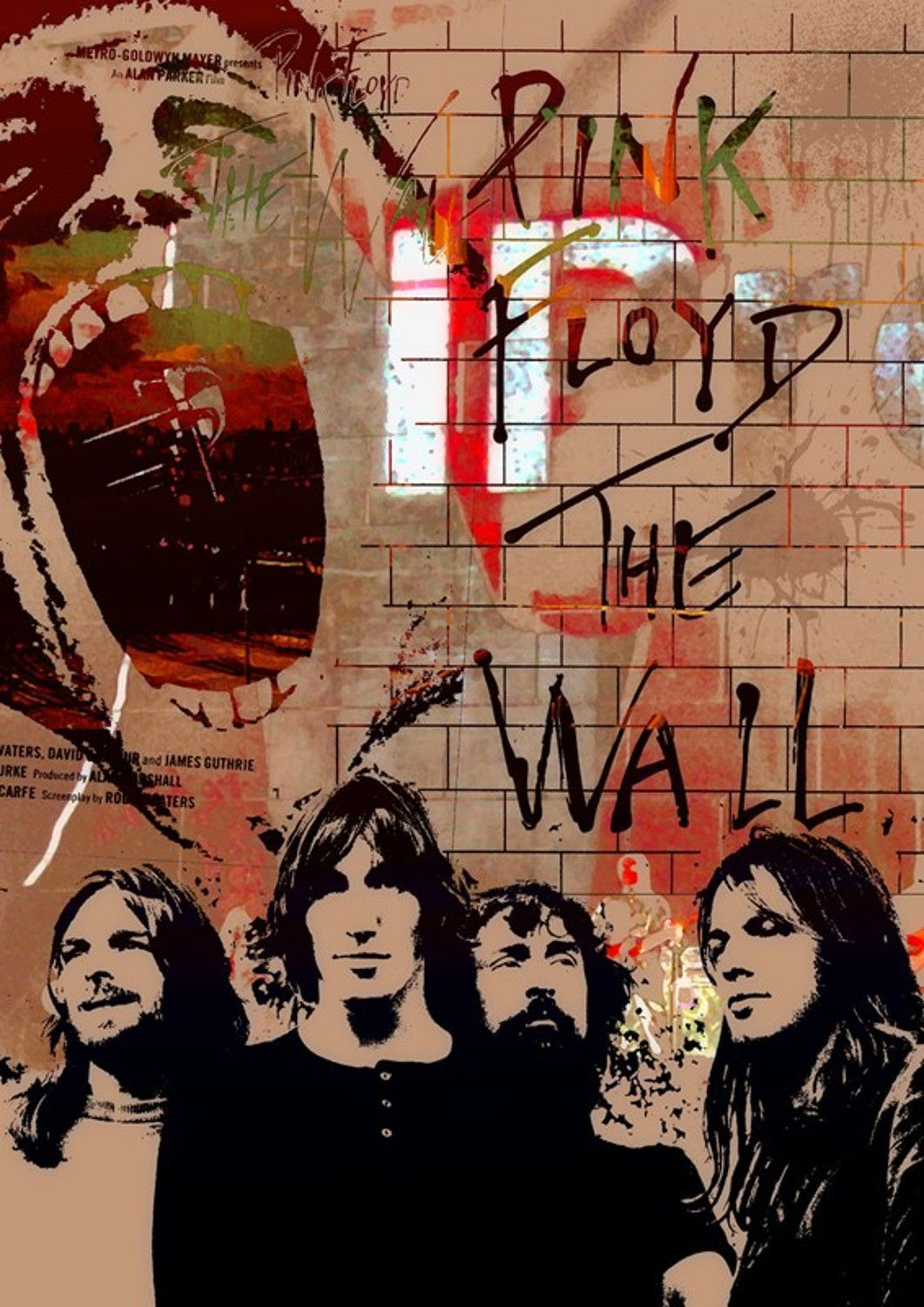 pink floyd the wall mini print d arte de pink floyd on pink floyd the wall id=87687