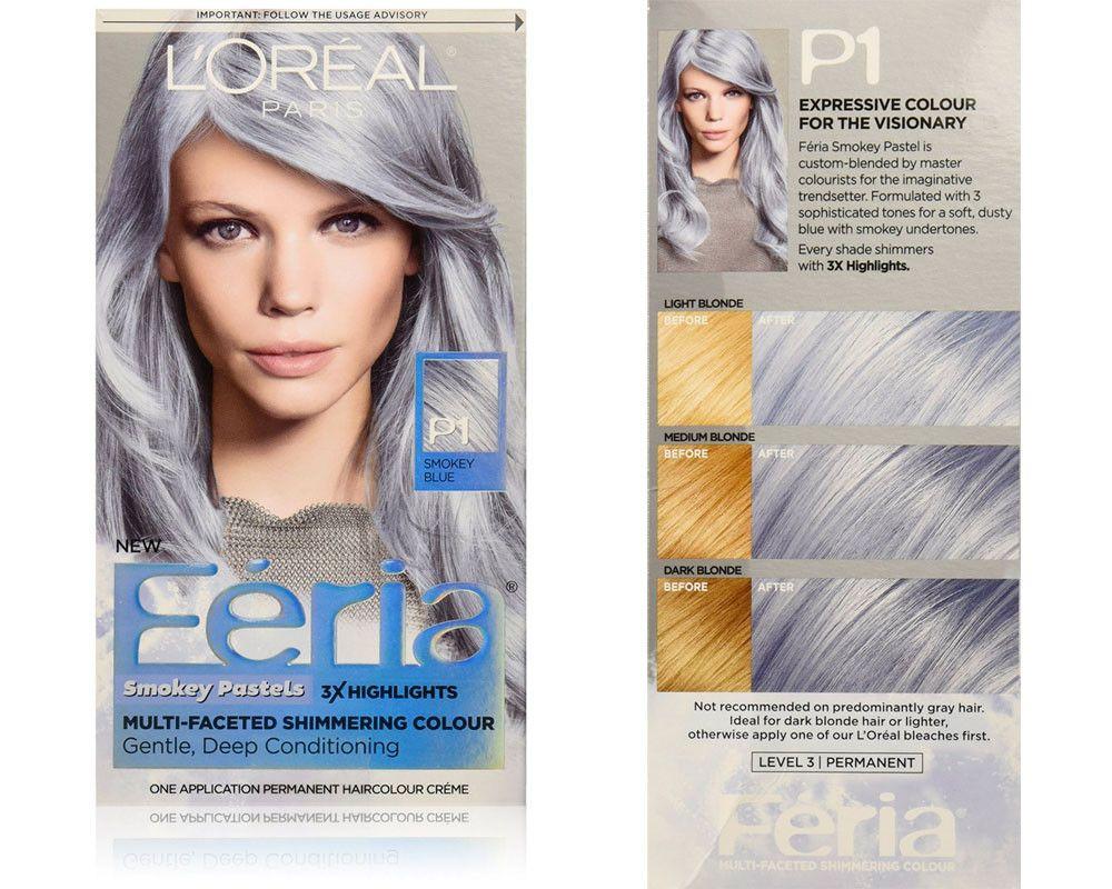L Oreal Feria Smokey Pastels Pastel Color Hair Dyes Pastel