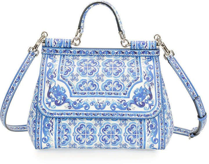 ccb71e4b96f1 Dolce   Gabbana Miss Sicily Floral-Print Satchel Bag. Maybe too much to pay  for a knitting bag .