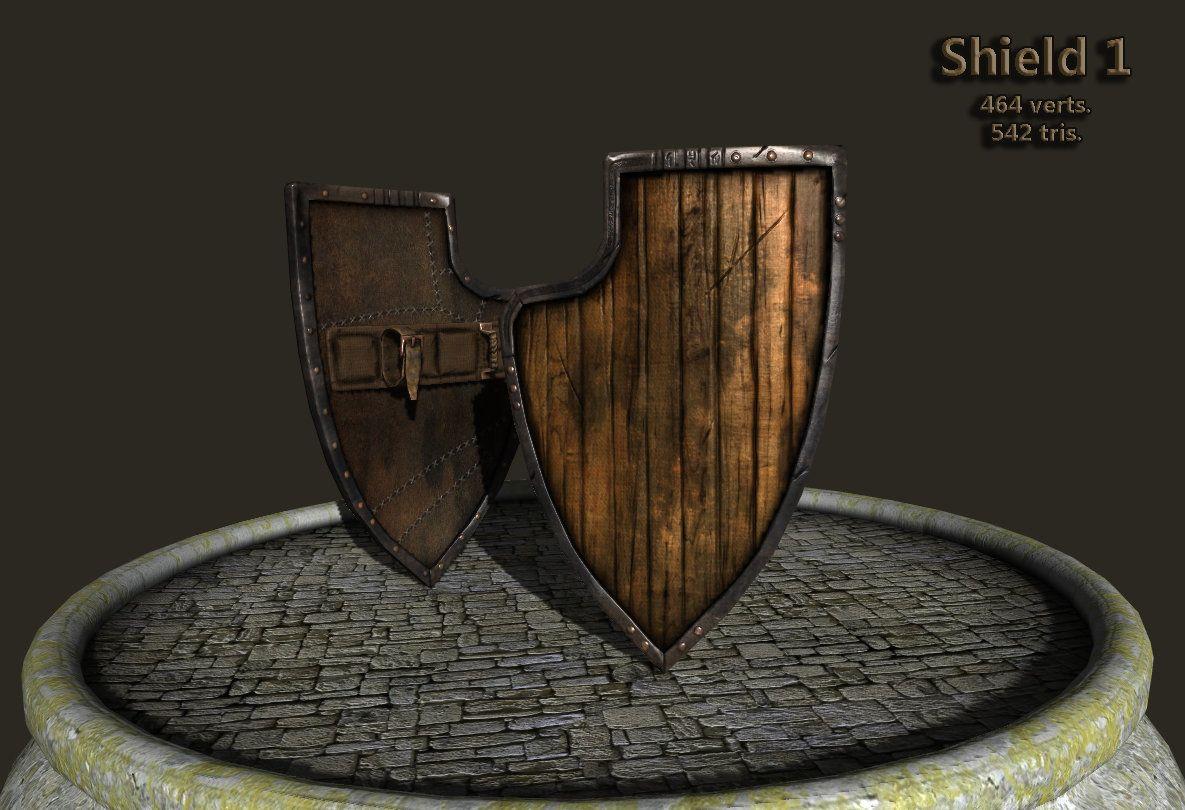 ArtStation - Medieval Shields, Marius Popa
