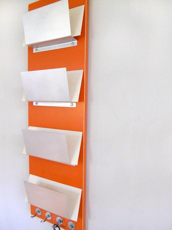 Magazine Rack Wall Mount for Office Black Organization Storage Reception Area