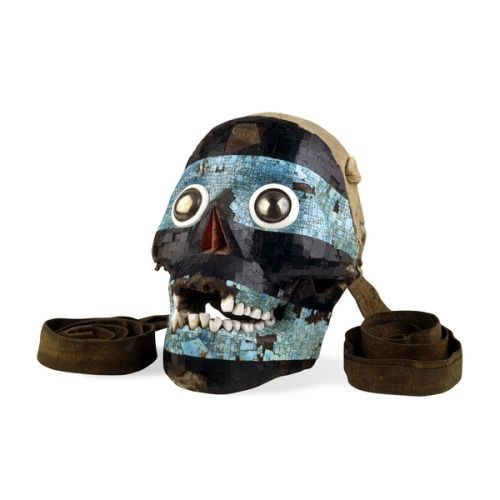 The skull of the Smoking Mirror, a mosaic mask of Tezcatlipoca from Mexica/Mixtec, 15th-16th century AD