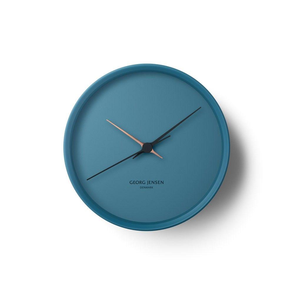 Georg Jensen Koppel 22cm Wall Clock Blue Wall Clock Clock Georg Jensen