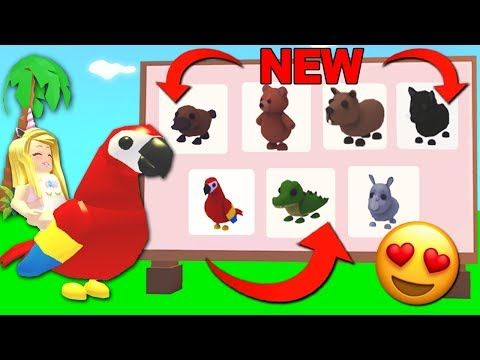 Buying All The New Jungle Pets In Adopt Me Roblox Youtube In 2020 Roblox Adoption Pets
