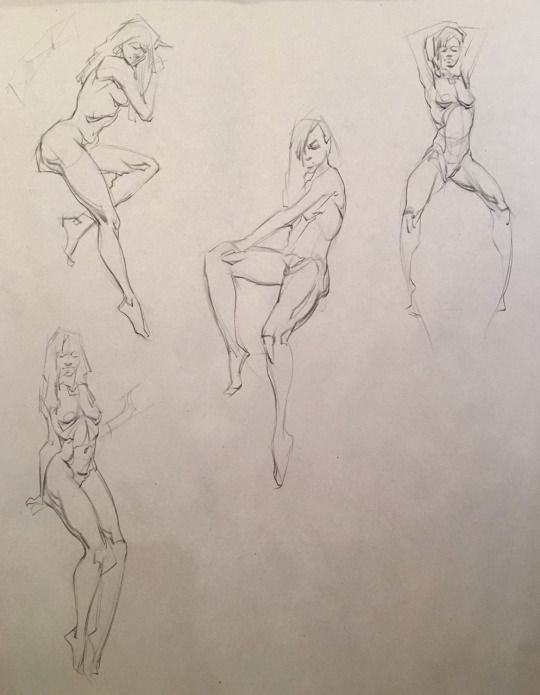 Watts Atelier of the Arts   Action Poses in 2019   Drawings, Figure