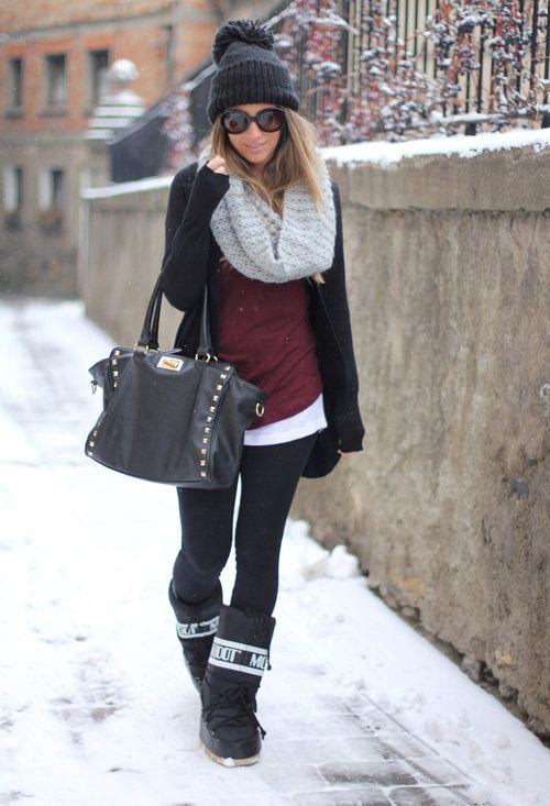 pretty nice 256ef 201cd winterrr :) | \ dayseams | Fashion, Autumn fashion, Moon boots