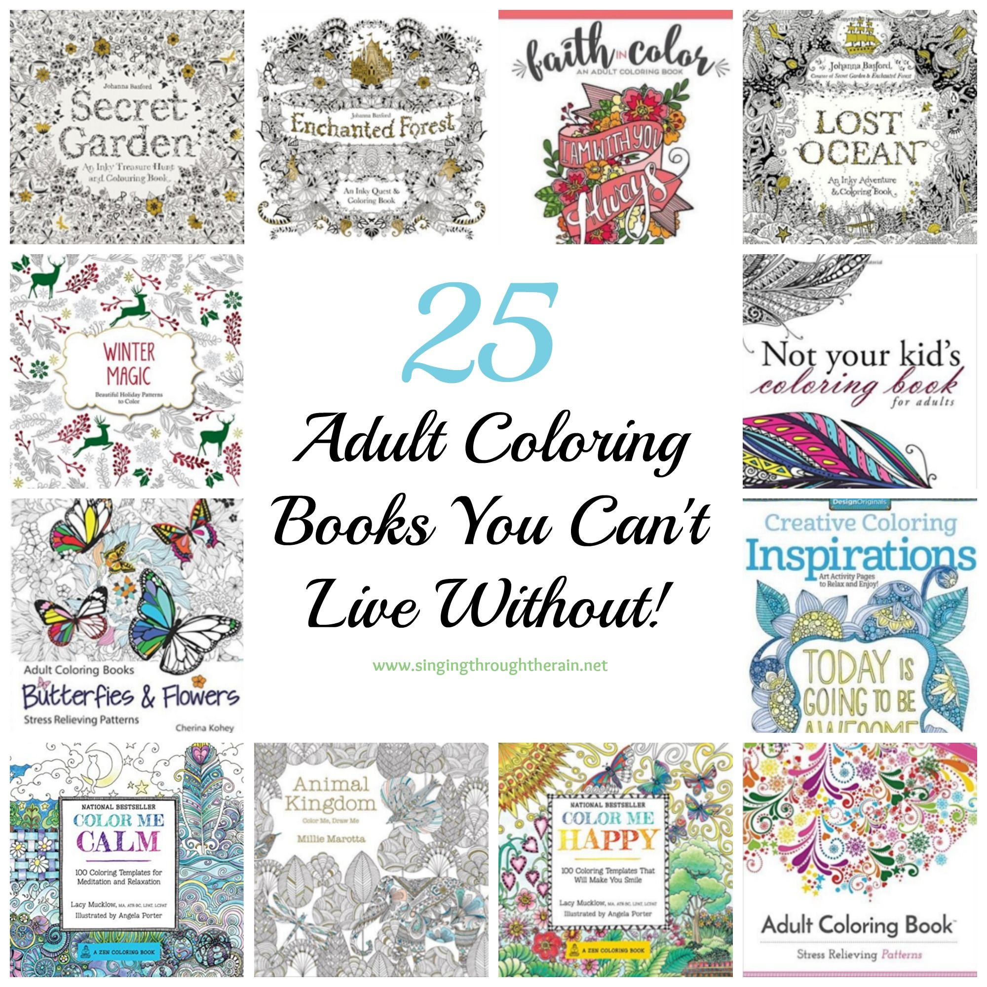 25 Adult Coloring Books You Cant Live Without