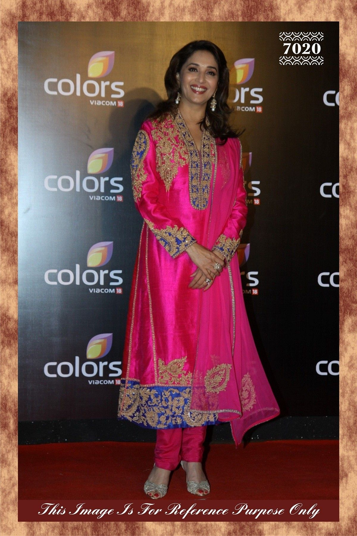 Click to enlarge Madhuri Dixit Pink Bollywood Pure Silk Straight ...