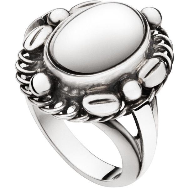 Georg Jensen MOONLIGHT BLOSSOM ring - sterling silver ($590) ❤ liked on Polyvore featuring jewelry, rings, sterling silver flower ring, flower ring, georg jensen jewellery, sterling silver rings and sterling silver jewelry