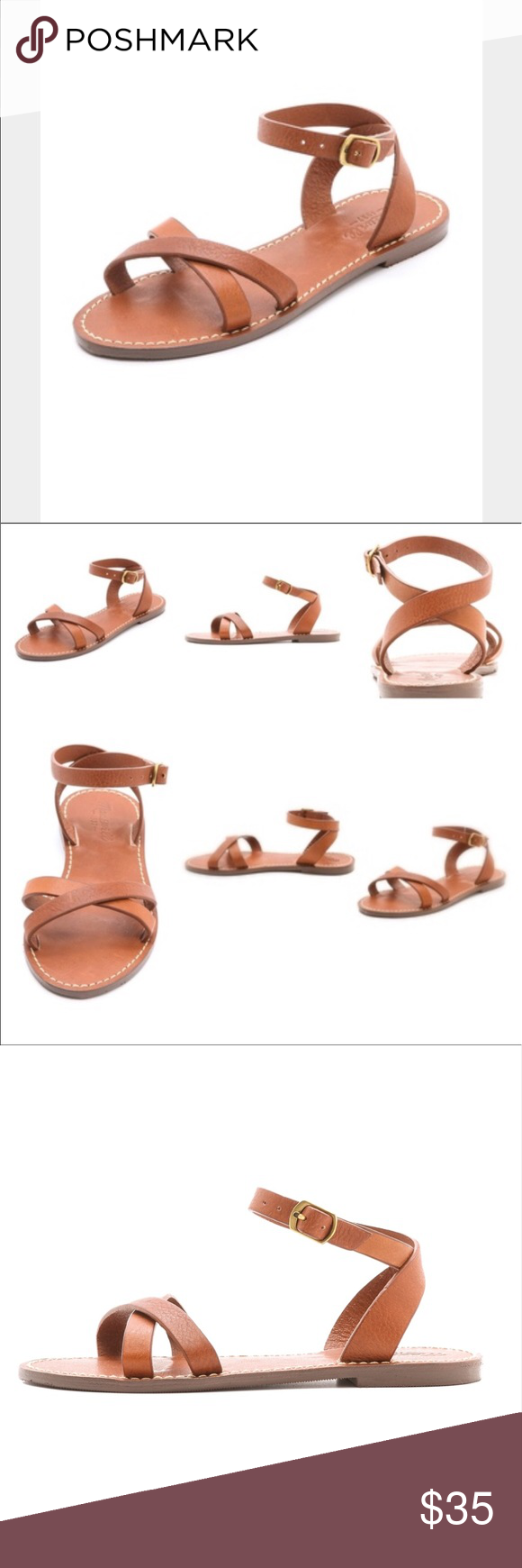 Madewell Criss Cross Boardwalk Sandal size 9 Madewell Criss Cross Boardwalk Sandal size 9. Worn once. Very good condition. Brown leather. These sandals go with everything. Super comfortable leather. Madewell Shoes Sandals
