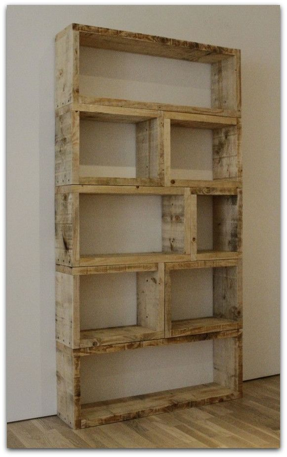 {an open bookshelf, made from recycled wood. simple and classy.} - Objects :: Recycled Wood Media Cabinet, Bookshelf Design And