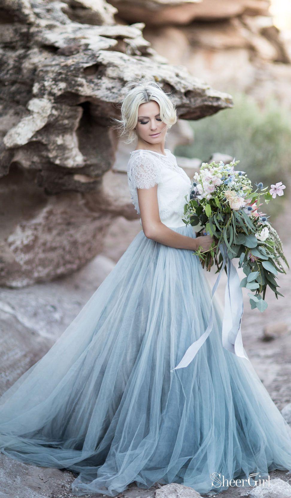 Tropical wedding Alternative wedding Romantic wedding long skirt Beach wedding skirt Dusty blue wedding skirt Bohemian wedding