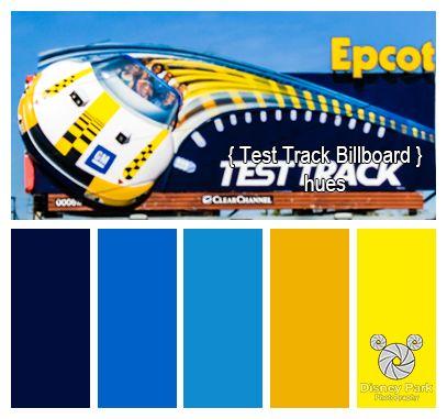 Disney Park Photography Photo Test Track Billboard Colors