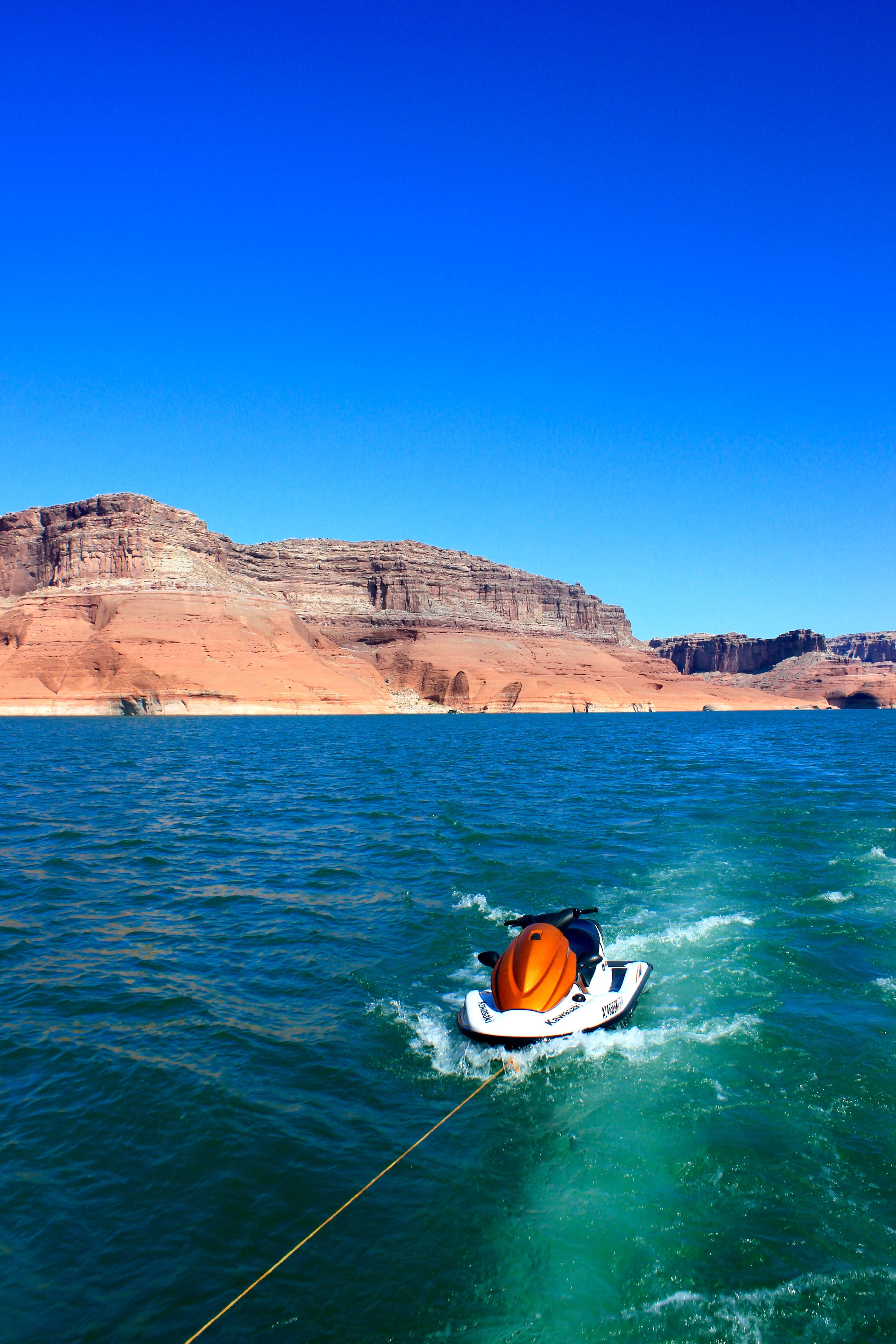 Our jet ski at lake powell in 2013 this is a 2006 model
