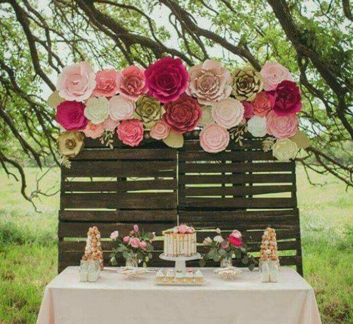 Pallets party ideas pinterest flores de papel for Papel de decoracion