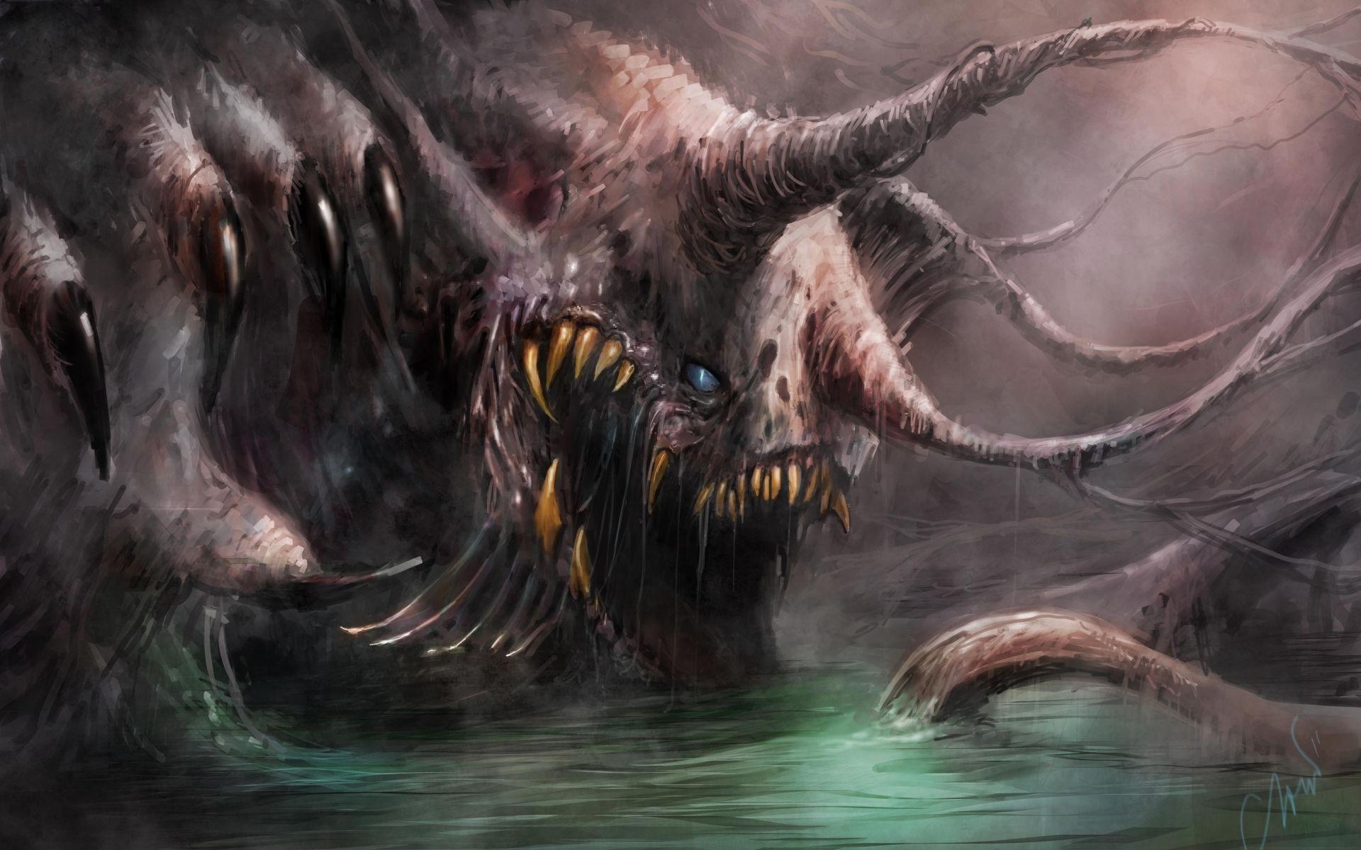 Paintings Landscapes Illustrations Fantasy Art Digital Dark Horror
