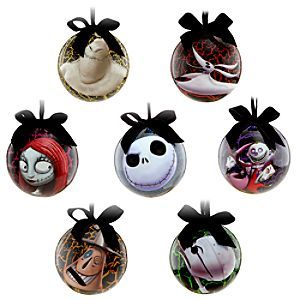 Disney Tim Burton's The Nightmare Before Christmas Ornament Set ...