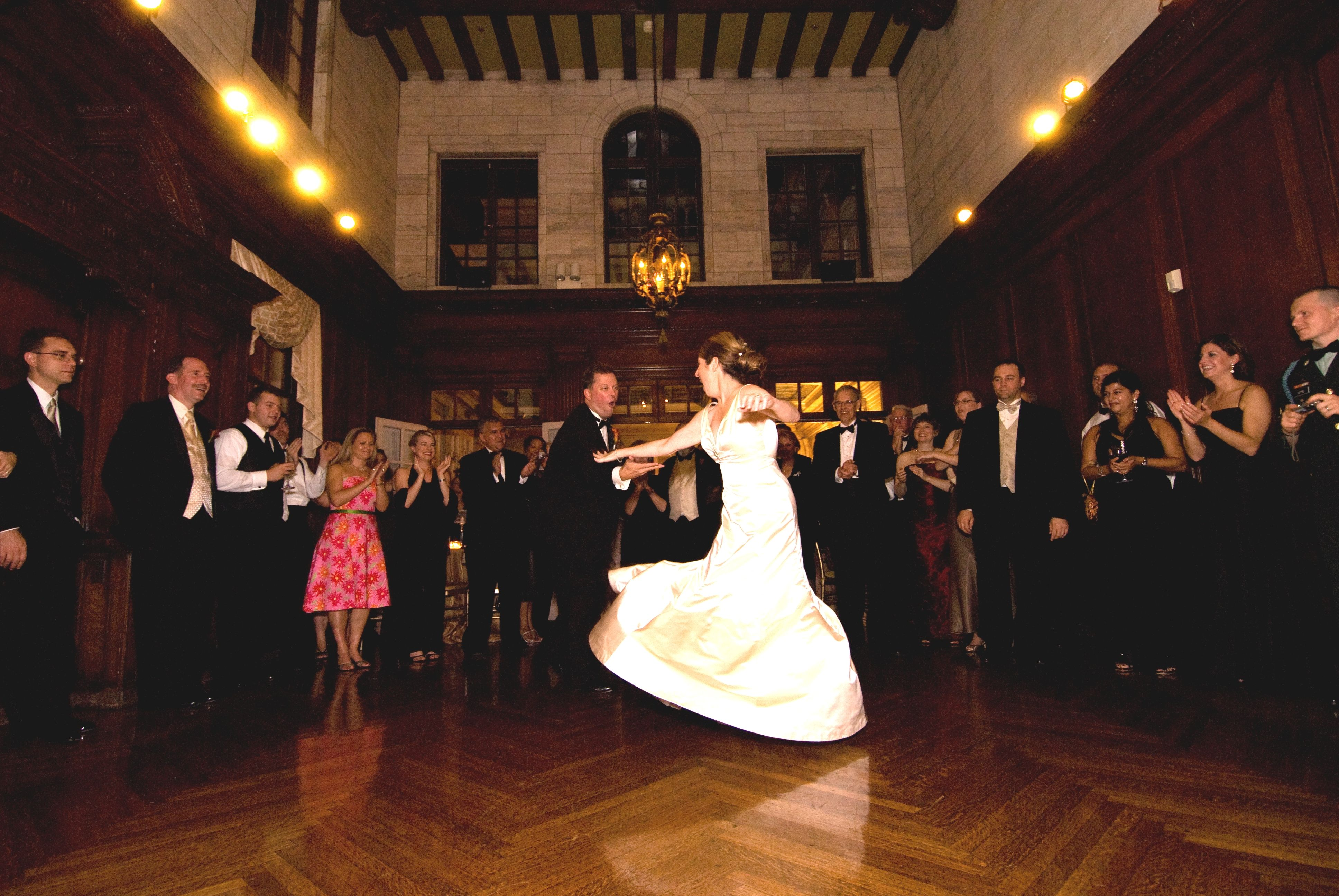 Dancing In The Music Room Of Mansion At Strathmore With Their Friends And Family