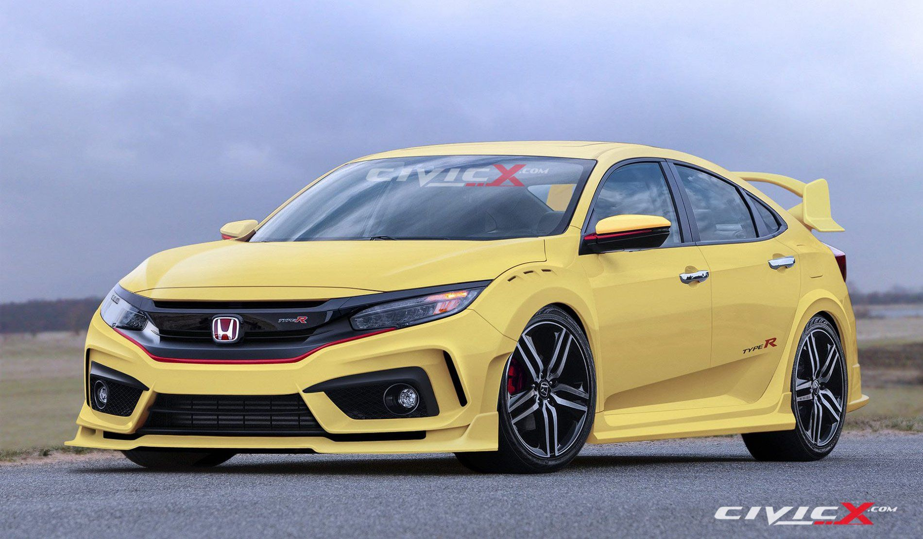 The Newly Rendered 2017 Honda Civic Typer