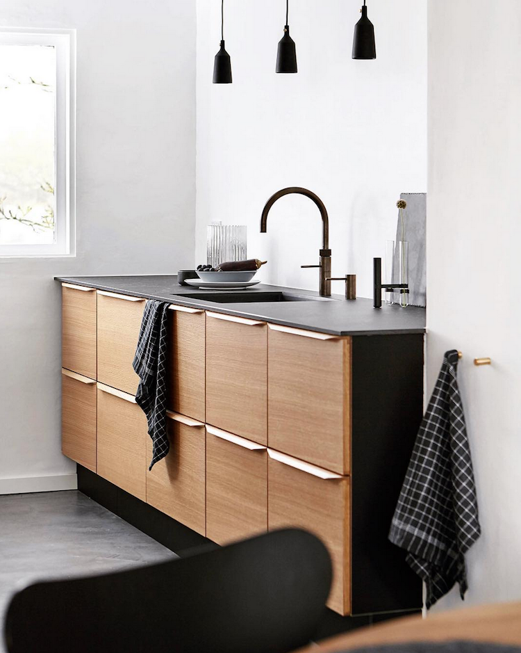 My Scandinavian Home Before After A Dated Danish 1950 S House Gets A Fabulous Small Kitchen Ideas On A Budget Wood Doors Interior Minimalist Kitchen Design