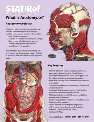 Have you seen the What is Anatomy.tv? handout yet? | School ...