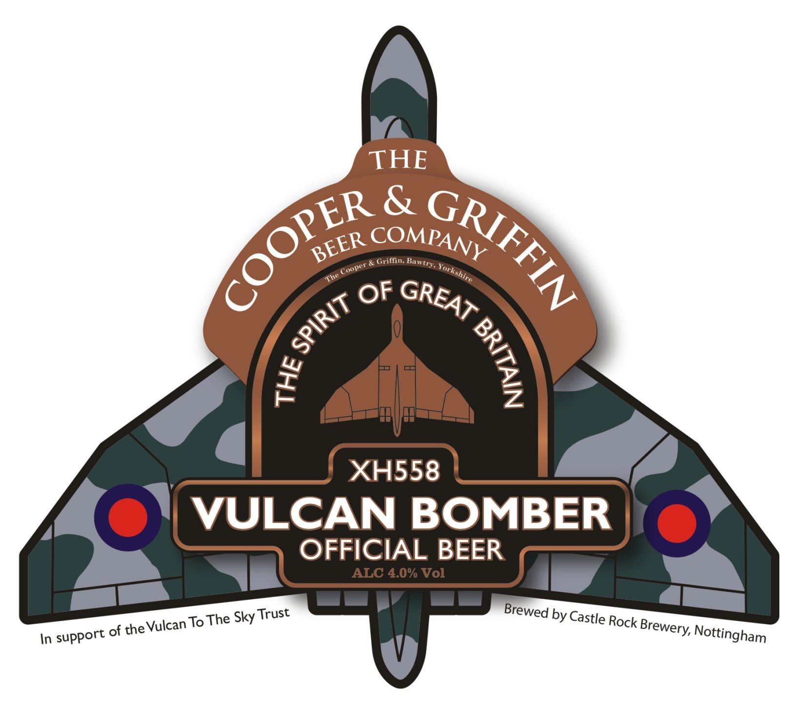 Vulcan To The Sky Vulcan Bomber Ale. Get really bombed