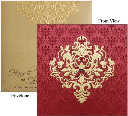 Indian Designer Wedding Card Simple And Elegant Wedding Cards