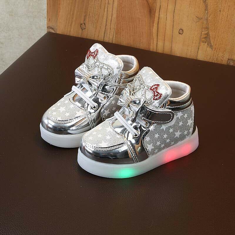 eBay Sponsored) Boys Girls LED Light Sneakers Luminous Sport