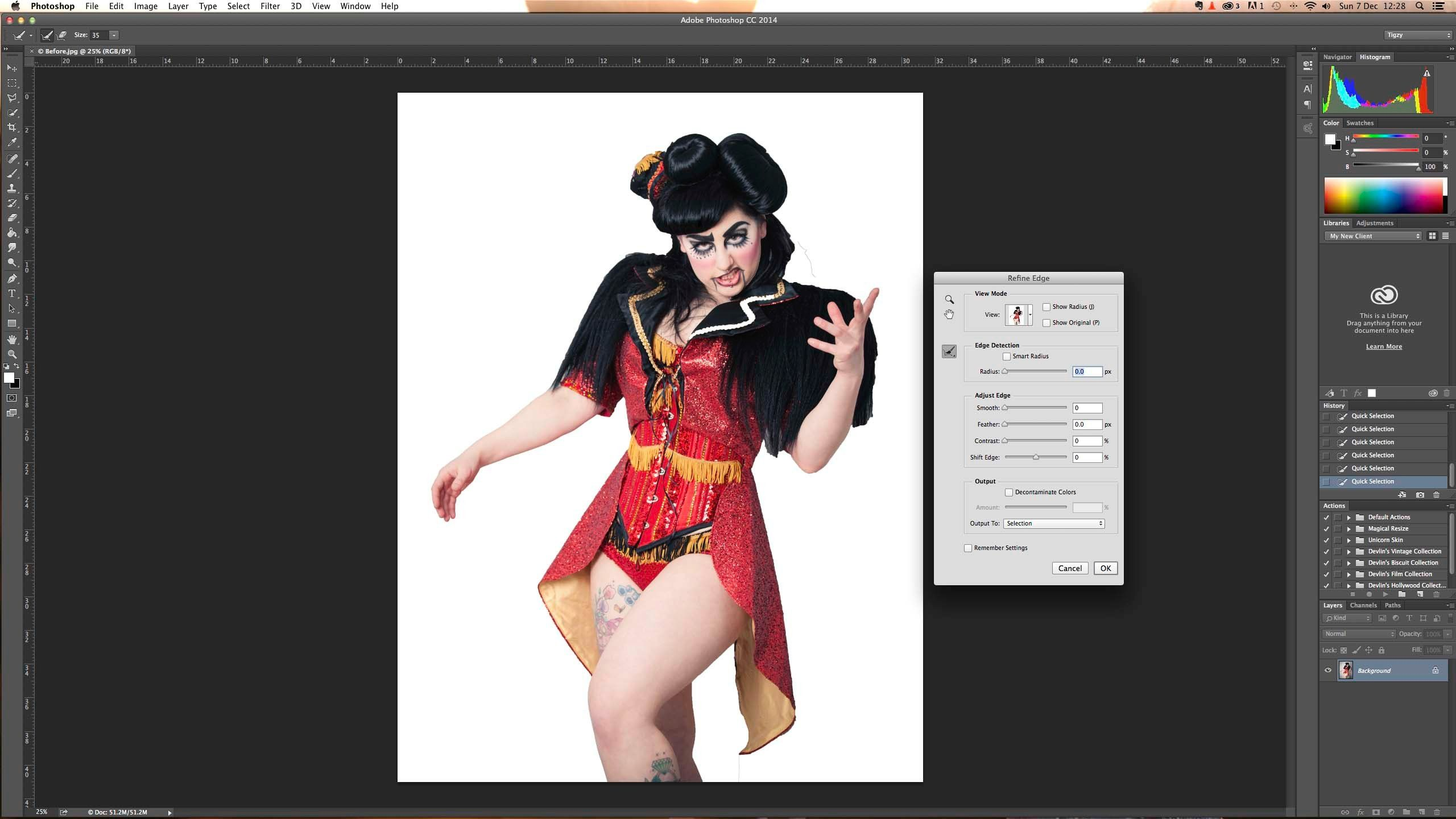 Cutting out images in Adobe Photoshop Elements …