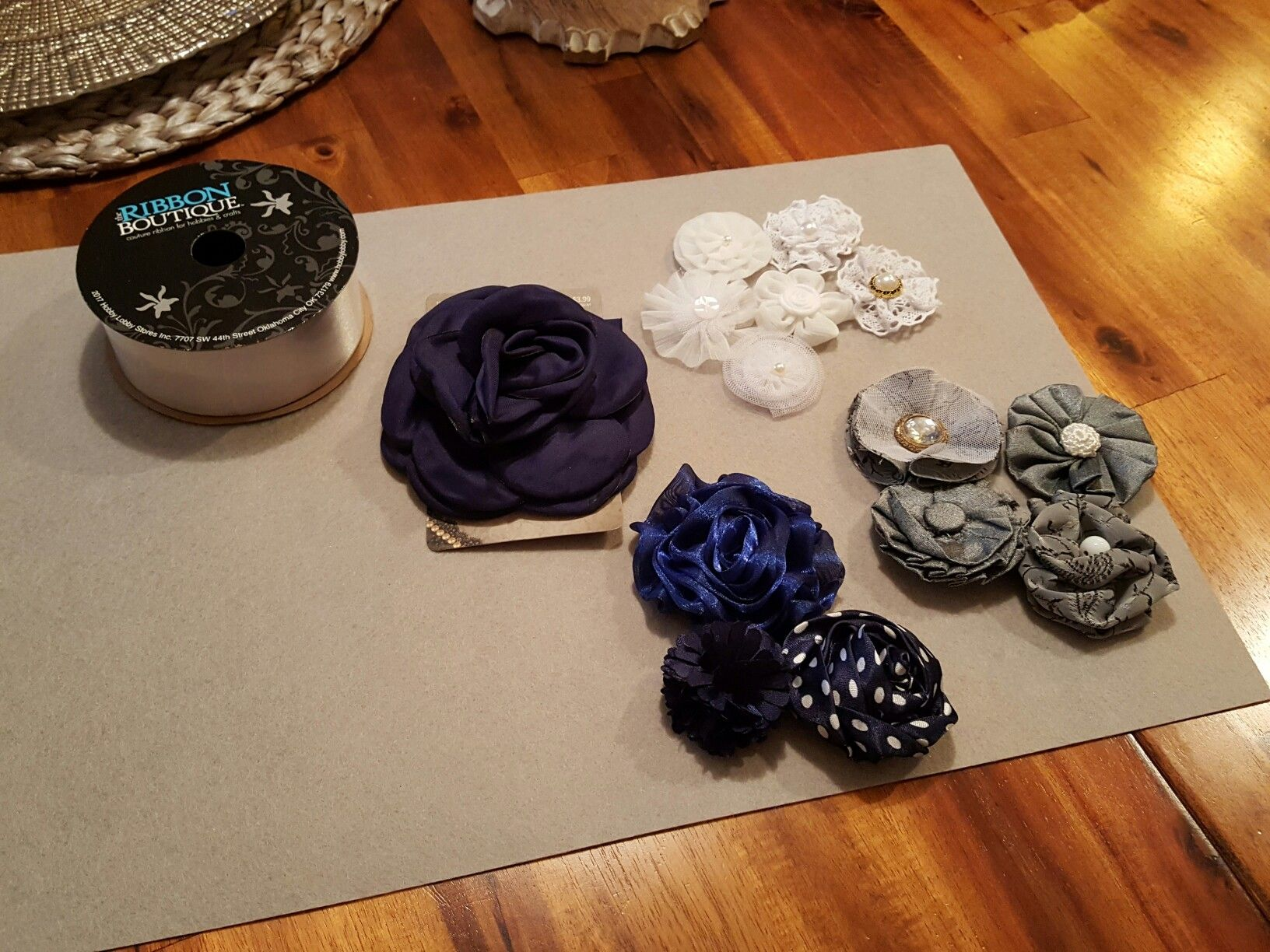 Maternity Sash - Hobby Lobby Fabric Flowers from Paper Crafts and Wearable Art