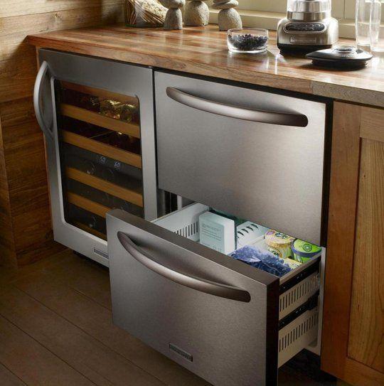 A Hideaway Kitchen Alternative: Refrigerator Drawers | Refrigerator ...