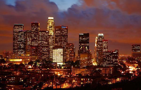 Carson Los Angeles California City At Night Downtown Los Angeles Night Skyline Skyline