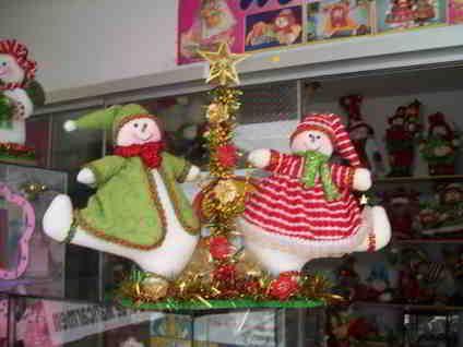 Muñecos de nieve bailarines