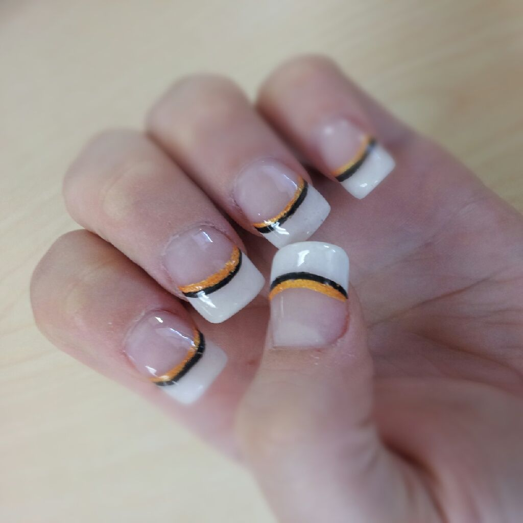 My Halloween french tip nails | French nails, Wedding ...
