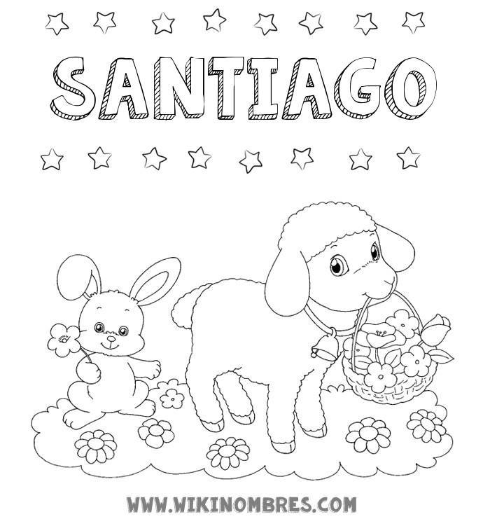 Imagen del nombre Santiago: dibujos para colorear, pintar e imprimir ...