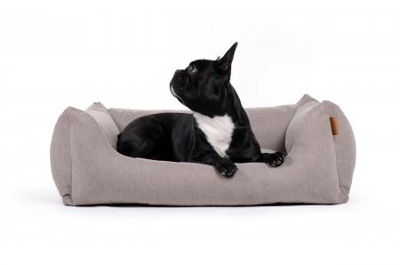 Hundebett Worldcollection Comfort 90x70 Cm Taupe In 2020 Hunde Bett Hundebett Hunde Kissen
