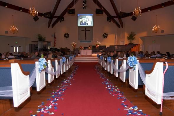 Church wedding ceremony decoration ideas churchaisle decorations church wedding ceremony decoration ideas churchaisle decorations wedding aisle decor blue ceremony junglespirit Images