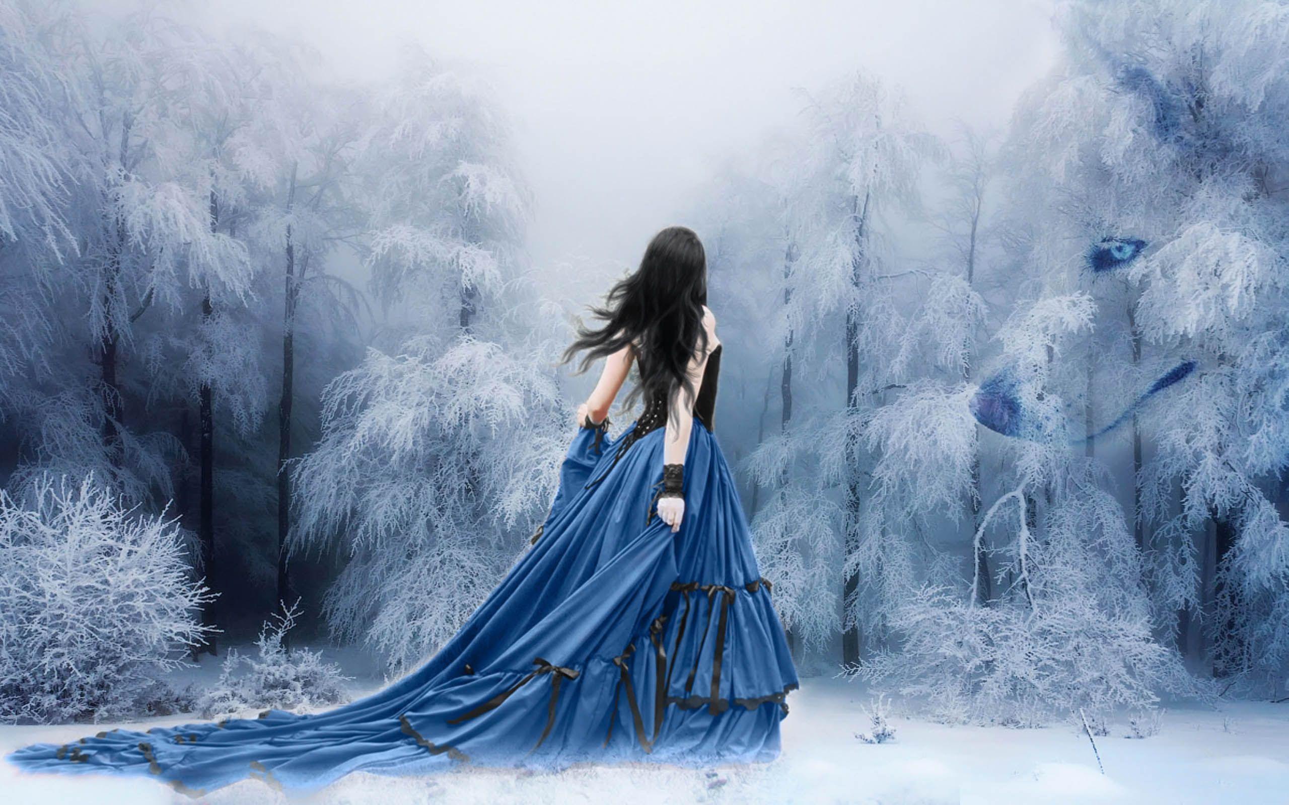 Anime Girls Snow Winter Alone Wallpaper WallDevil Зима