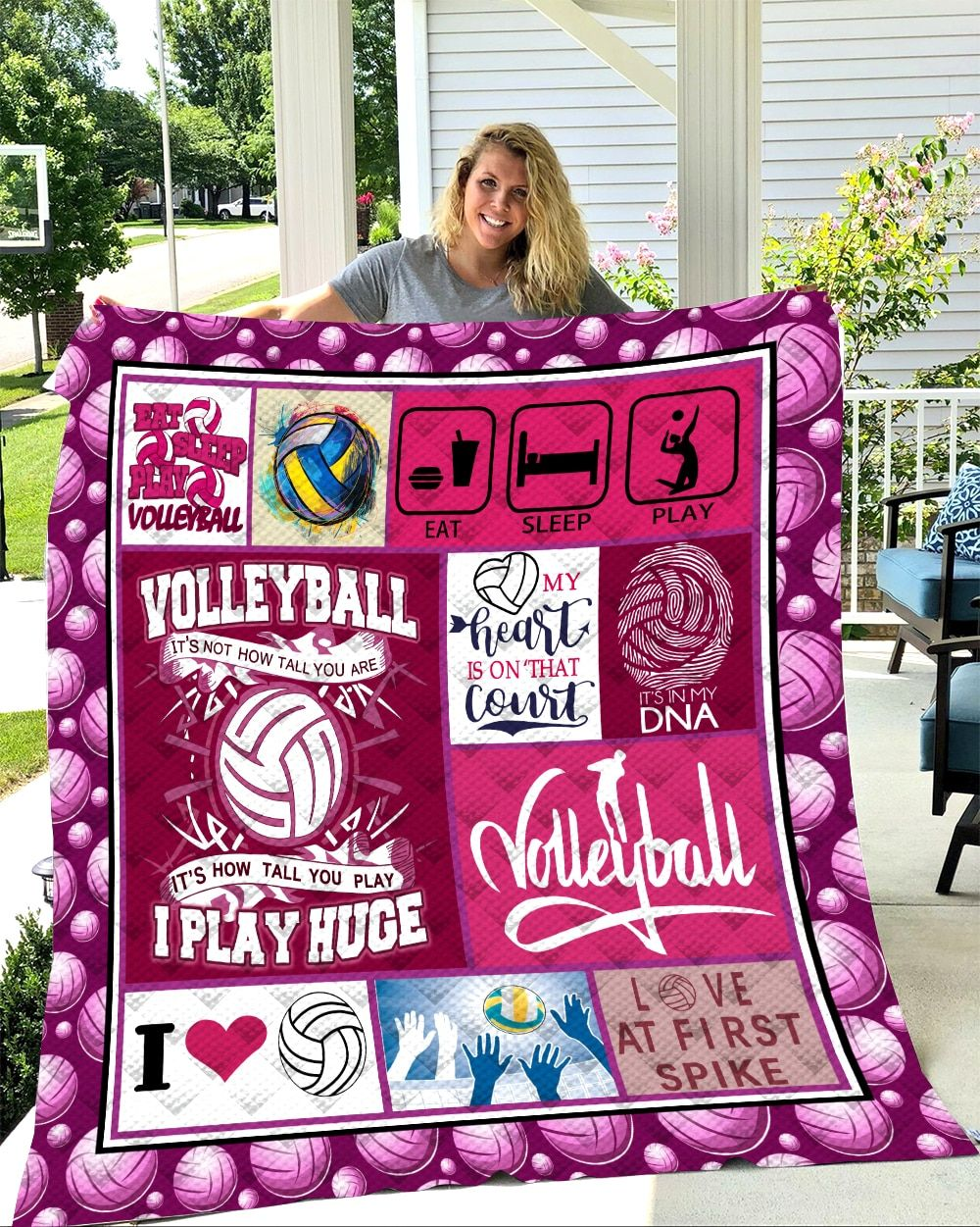 Softbatfy Volleyball Quilt Blanket For Bed Soft Dropshipping In 2020 Quilt Blanket Quilt Bedding Quilts