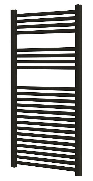 Blyss Matt Black Towel Warmer (H)1100mm (W)500mm | DIY at ...