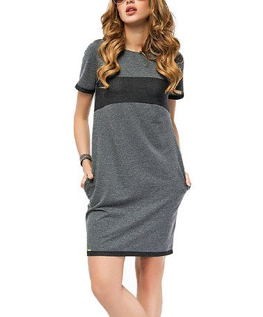 This Graphite Color Block Shift Dress is perfect! #zulilyfinds